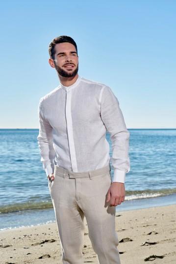 Camisa ibicenca de Lino modelo Banús