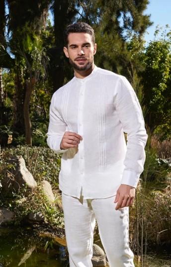 Camisa ibicenca de Lino Modelo Sotogrande