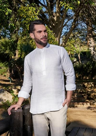 Camisa ibicenca de Lino modelo Medina