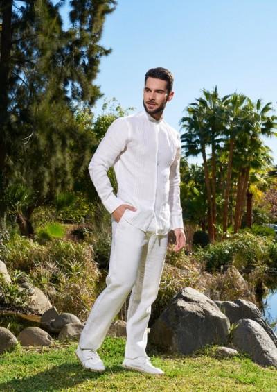 Pantalon ibicenco Lino Ronda