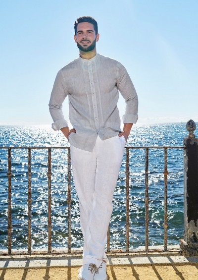 Camisa ibicenca de Lino Modelo Cadiz