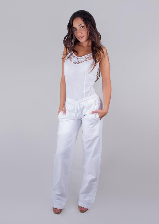 Pantalon algod n recto estilo ibicenco pantalon algod n - Ropa estilo ibicenco ...