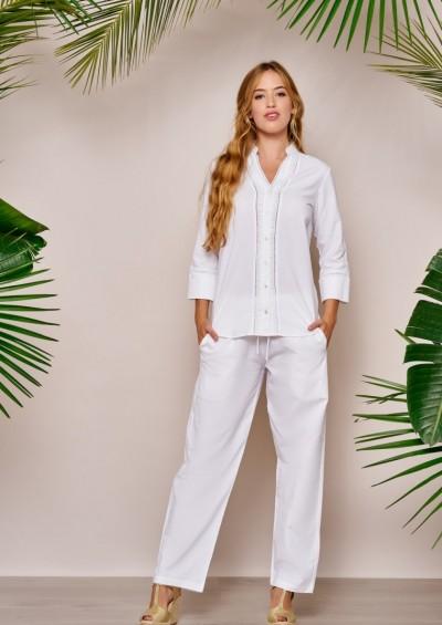 pantalon ibicenco de Lino Modelo Malta