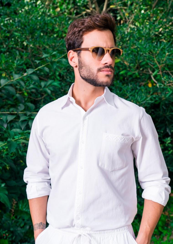 Camisa ibicenca Sao Paulo Bordada a Mano | Camisas, Hombres