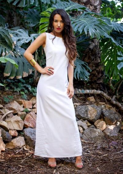 Vestido ibicenco Panamá bordado a mano